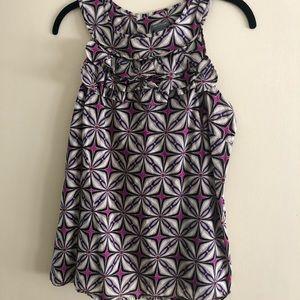 Ann Taylor modern geo sleeveless cotton blouse
